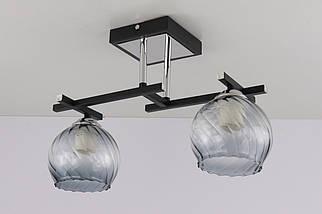 Люстра стельова на 2 лампочки 51462/2 Чорний 26х15х42 див.