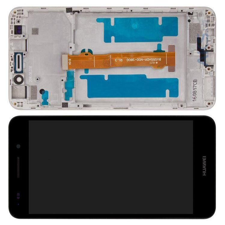 Дисплей модуль Huawei Y6 II CAM-L21 в зборі з тачскріном, чорний, з рамкою
