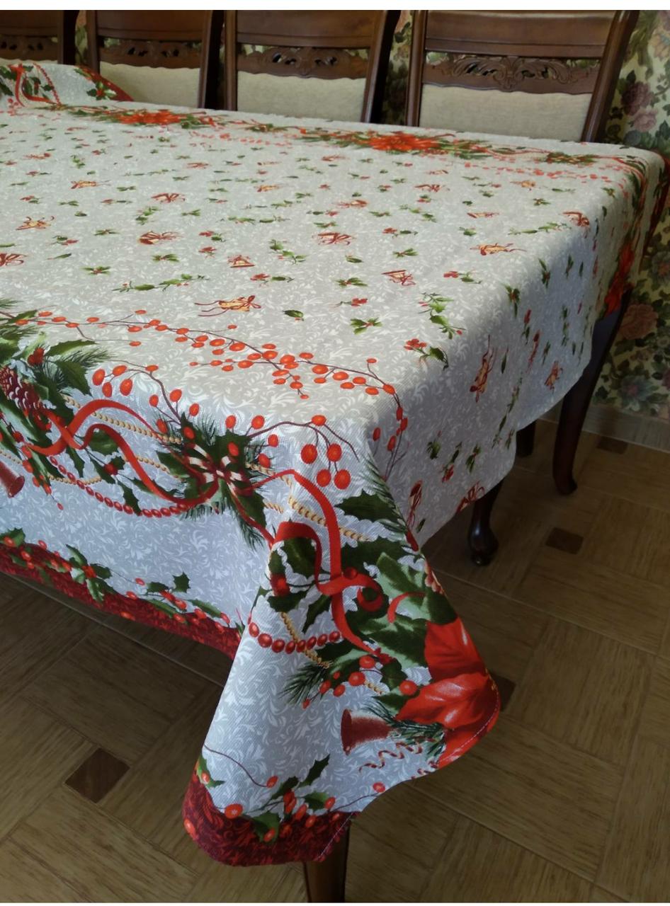 Скатерть новогодняя  2,2м*1,5м