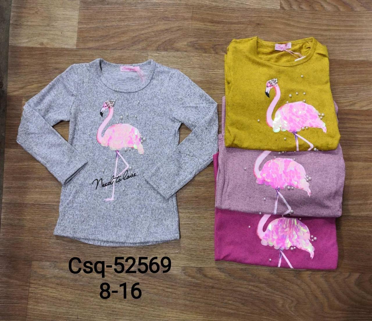 Реглани для дівчаток оптом, Seagull, розміри 8-16 років , арт. CSQ-52569