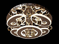 Светодиодная потолочная люстра с хрустальными подвесками с пультом 5043-4+1, фото 1