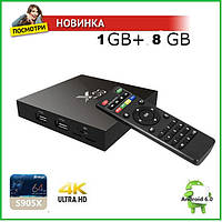 Смарт ТВ приставка X96 1 ГБ 8 ГБ S905X Amlogic Quad Core Android 6.0 TV Box WI-FI HDMI 4 К