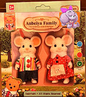 Набор флоксовых животных Мышки Happy Family 012-01С, аналог Sylvanian Families