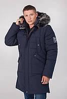 Зимняя куртка теплая мужская с мехом на молнии