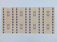 Панель ПВХ Регул Мозаїка Орнамент бордовий 956х480 мм