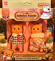 Набор флоксовых животных Мишки Happy Family 012-02С, аналог Sylvanian Families