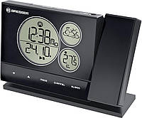 Метеостанция с проекционными часами  Bresser BF-PRO black с выносным датчиком