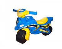 Мотоцикл-каталка Doloni 0138 10 Голубой Желтый, КОД: 990336