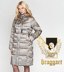 Воздуховик Braggart Angel's Fluff 29775 | Теплая женская куртка бежевая
