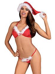 Игровой костюм снегурочки новогодний Obsessive
