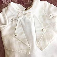 Набор для новорожденного из велюра для крещения или выписки из роддома с штанишками 56р