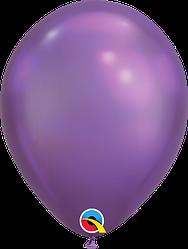 """Воздушные Шары Qualatex 11"""" (28 см), Chrome Purple (Хром Фиолетовый)"""