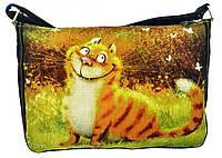 Джинсовая сумка РЫЖИЙ УЛЫБАКА, фото 1
