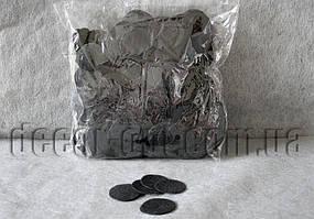 Фетровые заготовки-круги черные 0,5мм/4 см 1000 шт