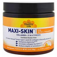 Коллаген + Витамины С&А  Country Life Maxi-Skin Collagen + C & A Powder 35 унции (100 г)
