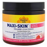 Коллаген + Витамины С&А  Country Life Maxi-Skin Collagen + C & A Powder Vitamin В12 43 (123 г)