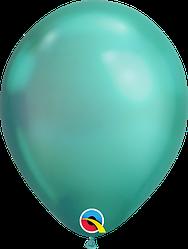 """Воздушные Шары Qualatex 11"""" (28 см), Chrome Green (Хром Зелёный)"""