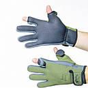 Перчатки водонепроницаемые Tramp TRGB-002 (р.M), зеленые, фото 2