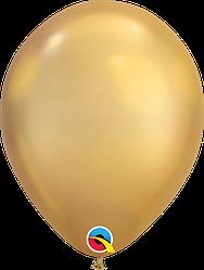 """Воздушные Шары Qualatex 11"""" (28 см), Chrome Gold (Хром Золото)"""