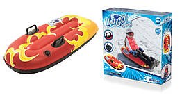Одномісні надувні сани - тюбінг для катання Bestway 39054, 107 х 48 см, червоний. Тюбинг-санки