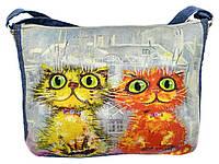 Джинсовая сумка СЛАДКАЯ ПАРОЧКА, фото 1