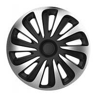 4 RACING Caliber carbon silver&black R16 КОЛПАКИ ДЛЯ КОЛЕС (Комплект 4 шт.)