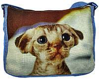 Джинсовая сумка КОТЕНОК, фото 1