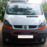 Flyplast Зимняя накладка на решетку радиатора Renault Trafic II '01-06 средняя (глянцевая)