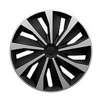 4 RACING Grip Silver&Black R16 КОВПАКИ ДЛЯ КОЛІС (Комплект 4 шт.)