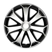 4 RACING Mega Silver&Black R16 КОВПАКИ ДЛЯ КОЛІС (Комплект 4 шт.)