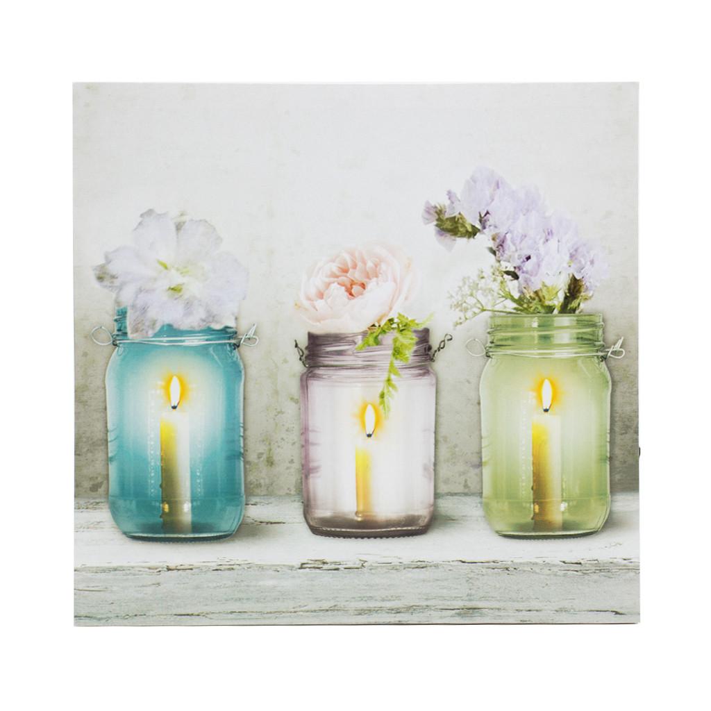 """LED Картина """"Три вазочки 40см"""" 109376"""