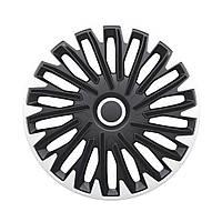 4 RACING Quantum Silver&Black R14 КОВПАКИ ДЛЯ КОЛІС (Комплект 4 шт.)