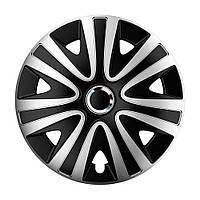 4 RACING Rialto Pro Silver&Black R13 КОВПАКИ ДЛЯ КОЛІС (Комплект 4 шт.)