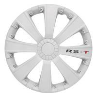4 RACING RST WHITE R15 КОЛПАКИ ДЛЯ КОЛЕС (Комплект 4 шт.), фото 1