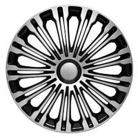 4 RACING Volante Silver&Black R14 КОЛПАКИ ДЛЯ КОЛЕС (Комплект 4 шт.), фото 1