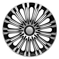 4 RACING Volante Silver&Black R15 КОВПАКИ ДЛЯ КОЛІС (Комплект 4 шт.), фото 1