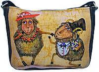Джинсовая сумка МИЛЫЕ БАРАШКИ, фото 1