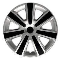 4 RACING VR Silver&Black R16 КОЛПАКИ ДЛЯ КОЛЕС (Комплект 4 шт.)