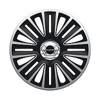 ARGO Quadro Pro Silver&Black R13 КОЛПАКИ ДЛЯ КОЛЕС (Комплект 4 шт.)