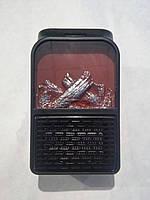 Портативный обогреватель с LCD дисплеем и имитацией камина+пульт 500Вт FLAME HEATER