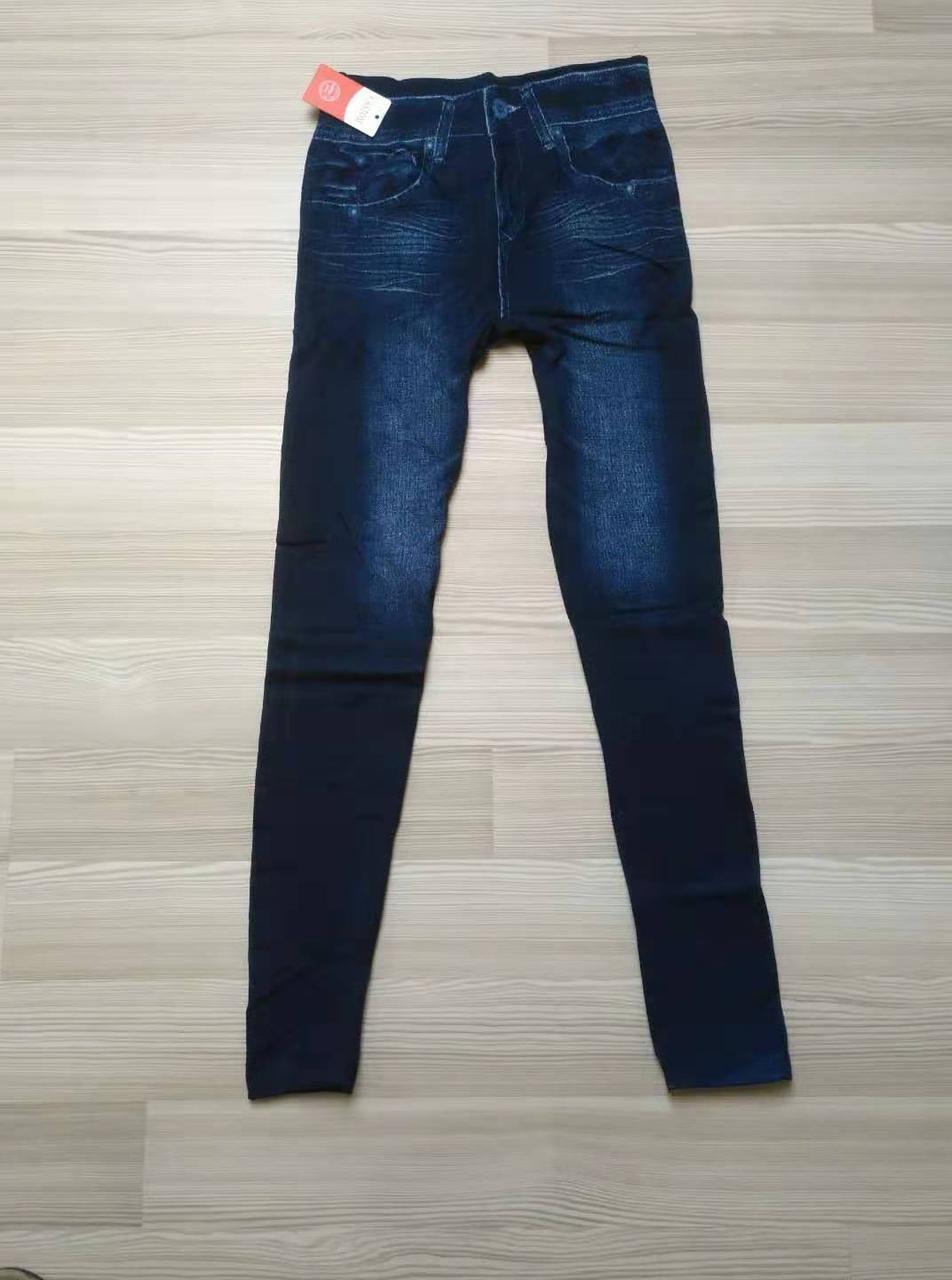 Женские джинсовые лосины утепленные мех ТМ CASTOM Арт.15121
