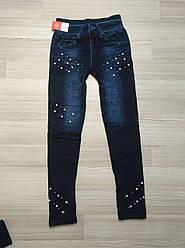 Женские лосины джинсовые на меху ТМ CASTOM Арт.15122