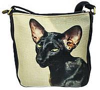 Джинсовая сумка ЧЕРНЫЙ ОРИЕНТАЛ, фото 1
