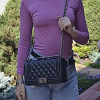 Женская стильная сумка Chanel Boy Шанель Бой реплика