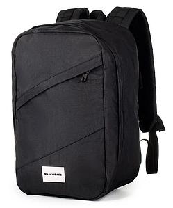 Рюкзак для ручной клади черный WascoBags 40x25x20 RW Black (Wizz Air / Ryanair)