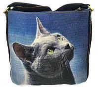 Джинсовая сумка РУССКАЯ ГОЛУБАЯ, фото 1
