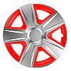 ELEGANT Esprit RC Silver&Red R15 КОВПАКИ ДЛЯ КОЛІС (Комплект 4 шт.)