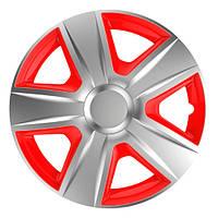 ELEGANT Esprit RC Silver&Red R16 КОВПАКИ ДЛЯ КОЛІС (Комплект 4 шт.)