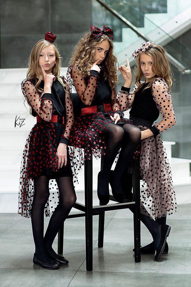 Нарядное платье для девочки KIZ Польша KAROLINKA Красный