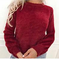 Свитердля девушек размер норма 42-44, бордового цвета, фото 1